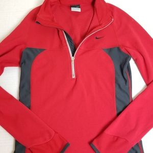 NIKE Sphere Dry red thermal jacket -w/thumb holes!